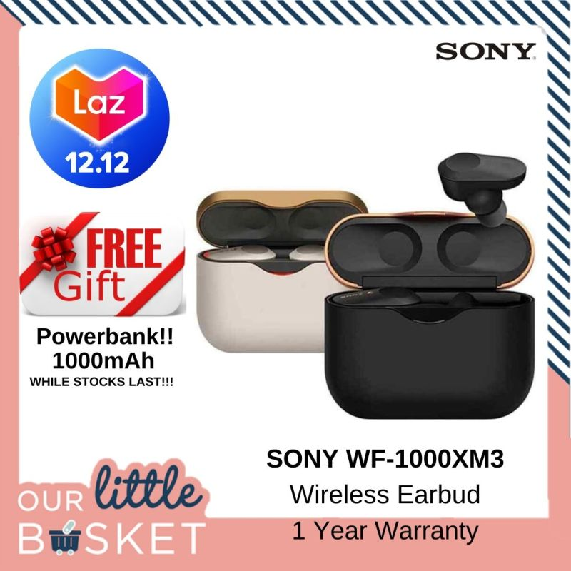 [LIMITED SETS]1 YEAR WARRANTY (International Version) Sony WF-1000XM3 Truly Wireless Bluetooth Earbuds. SONY WF1000XM3 Singapore