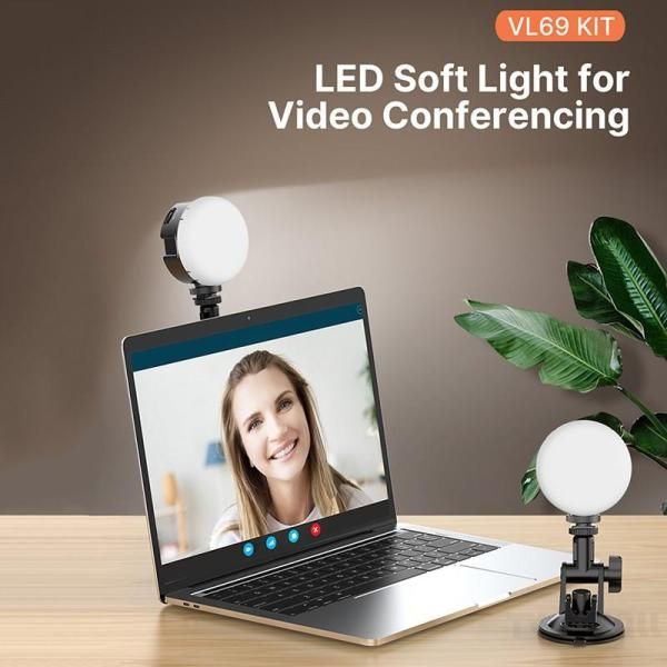 Laptop Fill Light Video Conference Lighting Kit Computer Light for Broadcasting Live Streaming