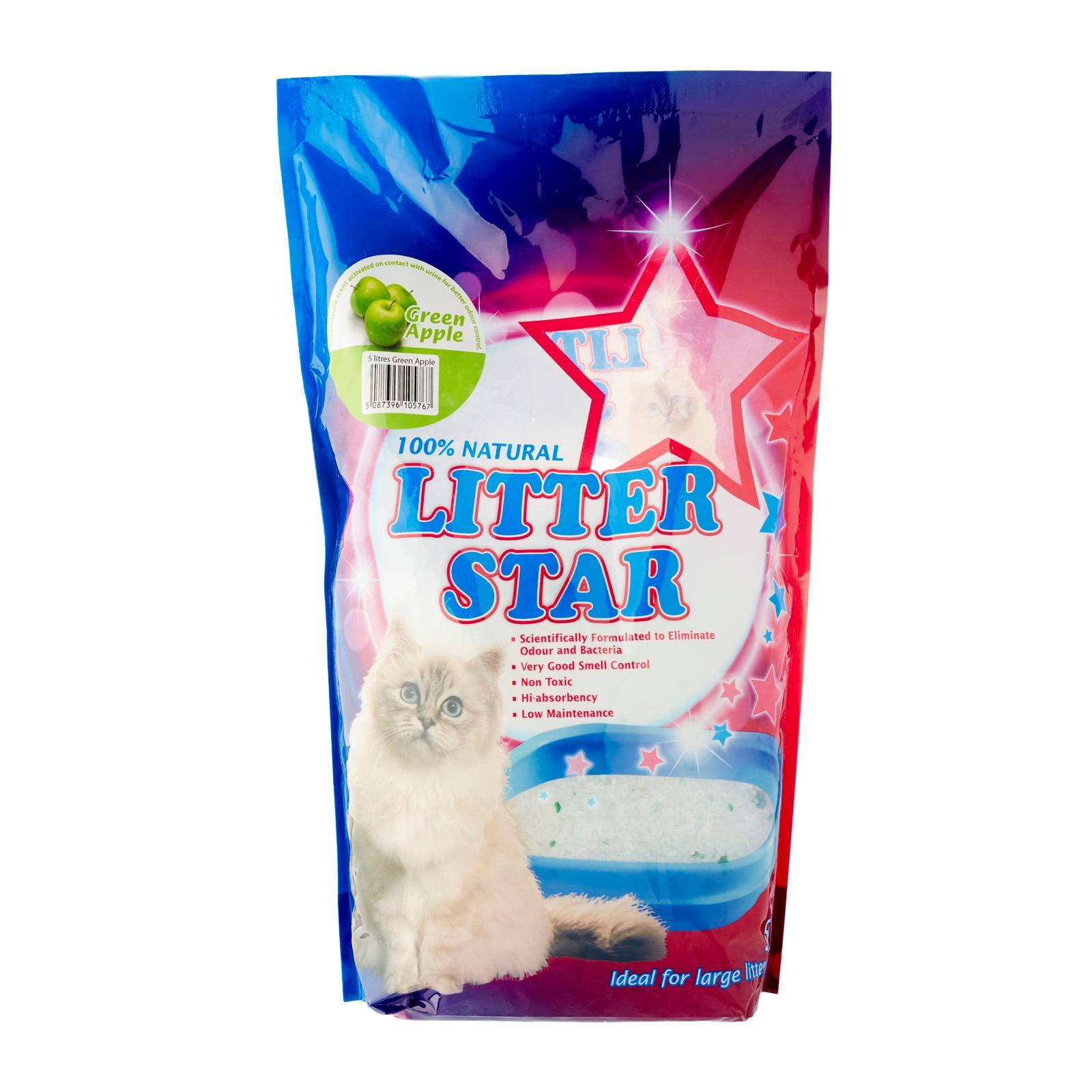 LITTER STAR Green Apple Crystal Cat Litter