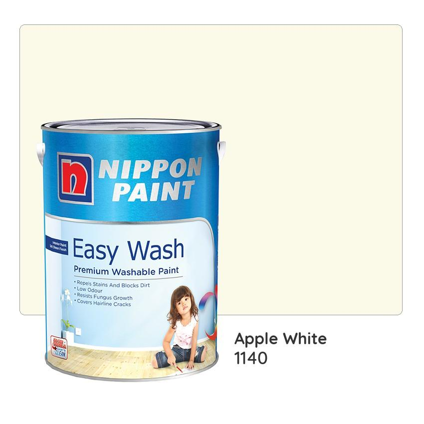 Nippon Paint Easy Wash 1140 (Apple White) 1L