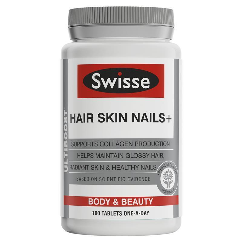 Swisse Ultiboost Hair Skin Nails+ 100 Tablets By Stockup.sg.