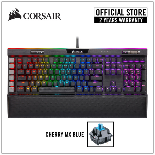 CORSAIR K95 RGB PLATINUM XT Mechanical Gaming Keyboard (Black) — Cherry MX Blue RGB Singapore