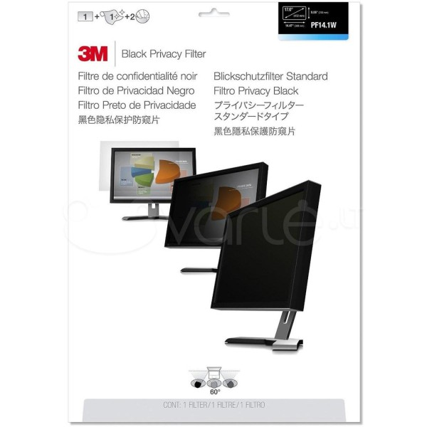3M PF14.1W Privacy Filter for 14.1 16:10 Widescreen Displays