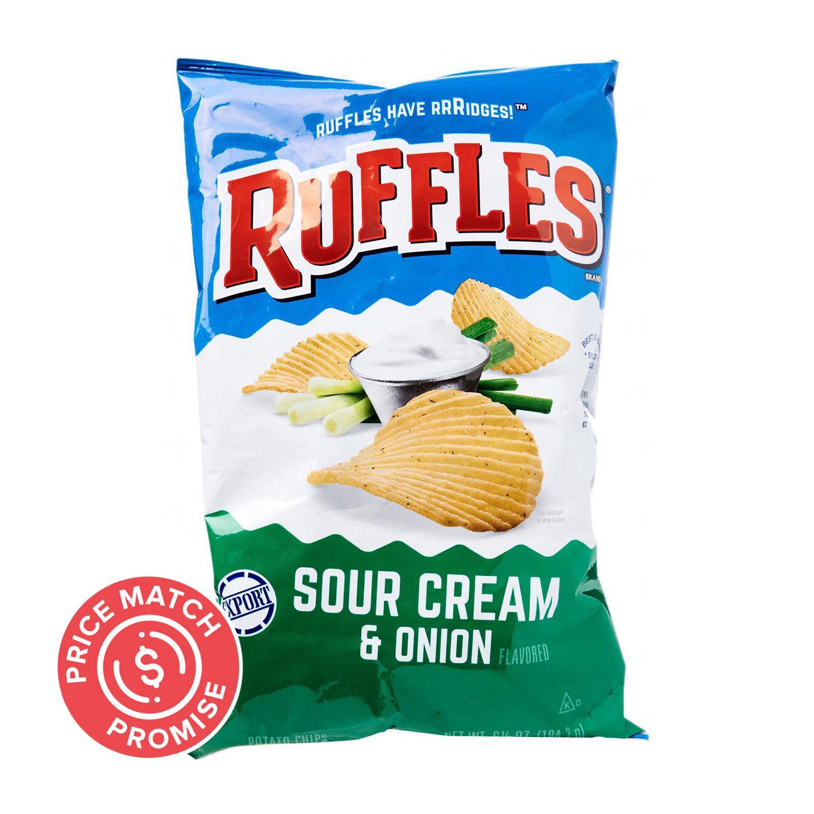 Ruffles Sour Cream and Onion Potato Chips