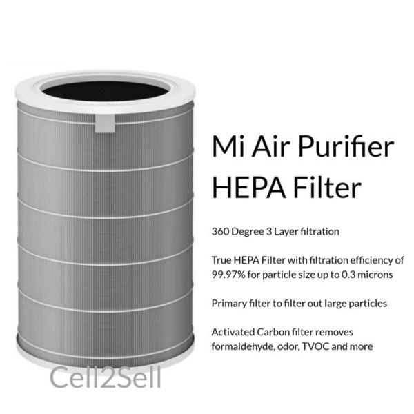 (Local Seller&Ready Stock) Xiaomi Mi Air Purifier Filter ( HEPA ) | True HEPA Filter | 360 triple -layer filter | Compatible with all Mi Air Purifier 2 / 2S / 2H / 3C / 3H & Pro Singapore