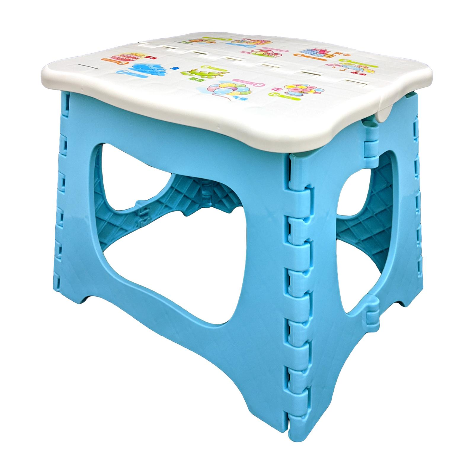KangjiaBao Little Genius Plastic Foldable Stool 23 Cm (Blue)