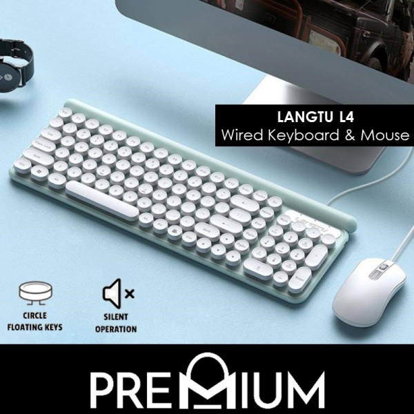 Langtu L4 WIRED Keyboard and Mouse Set Combo l Premium Office Keyboard and Mouse