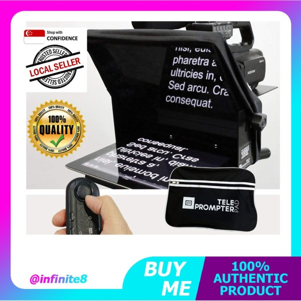(Made in EU) TELEPROMPTER PAD TeleprompterPAD iLight Pro 10 - 100x100 Aluminum - Robust (No Flimsy Plastic)