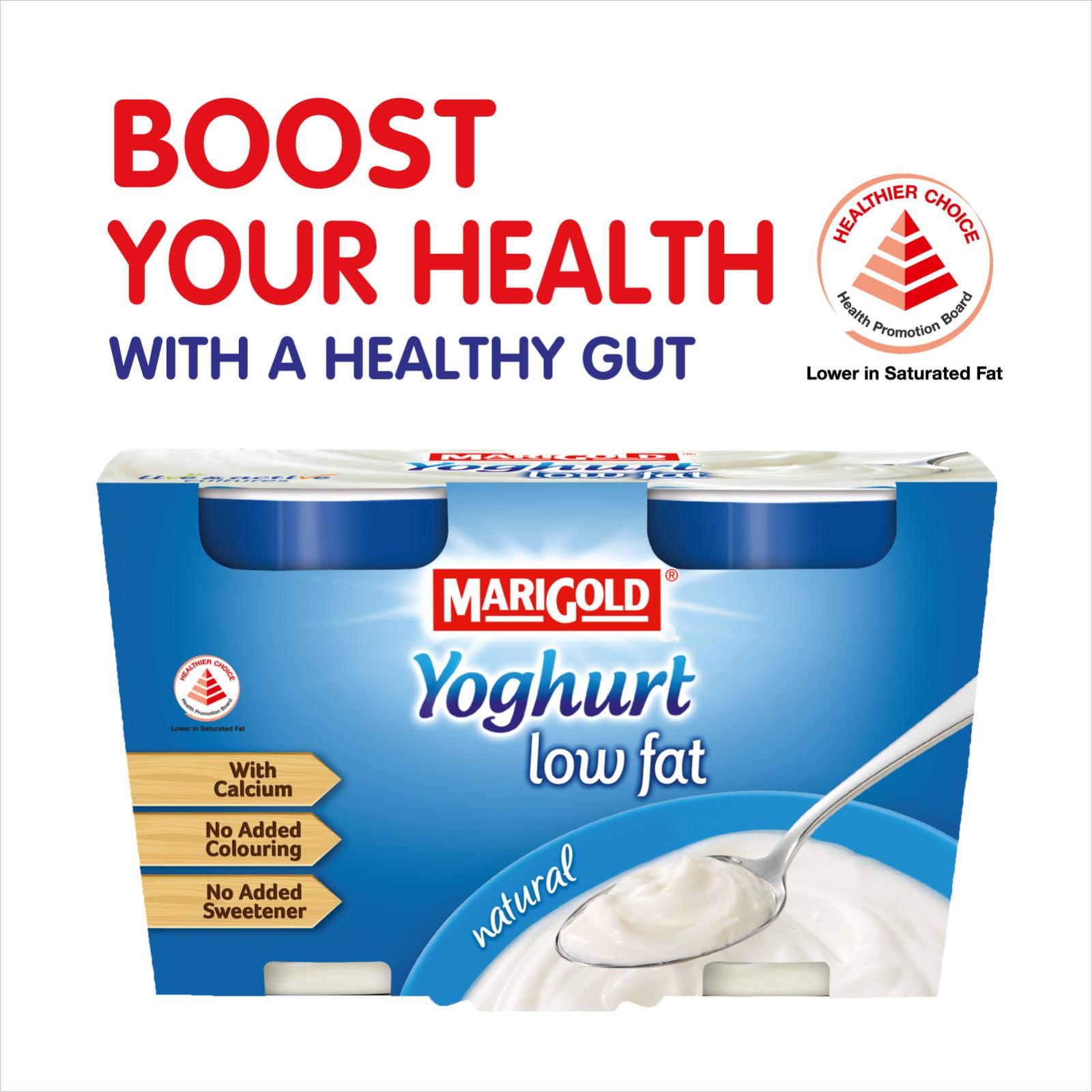 MARIGOLD Low Fat Cup Yoghurt - Natural 2x130G