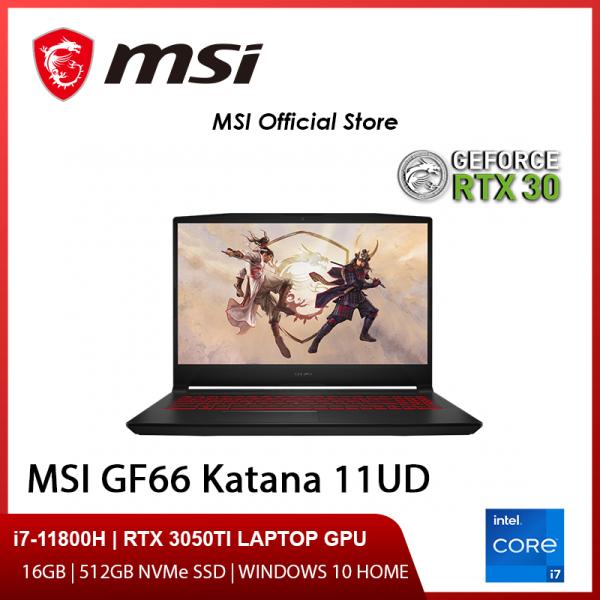 NEW 11th Gen MSI GF66 11UD-438SG Gaming Laptop (i7-11800H/RTX 3050Ti/15.6 FHD 144hz/W10/2Y)