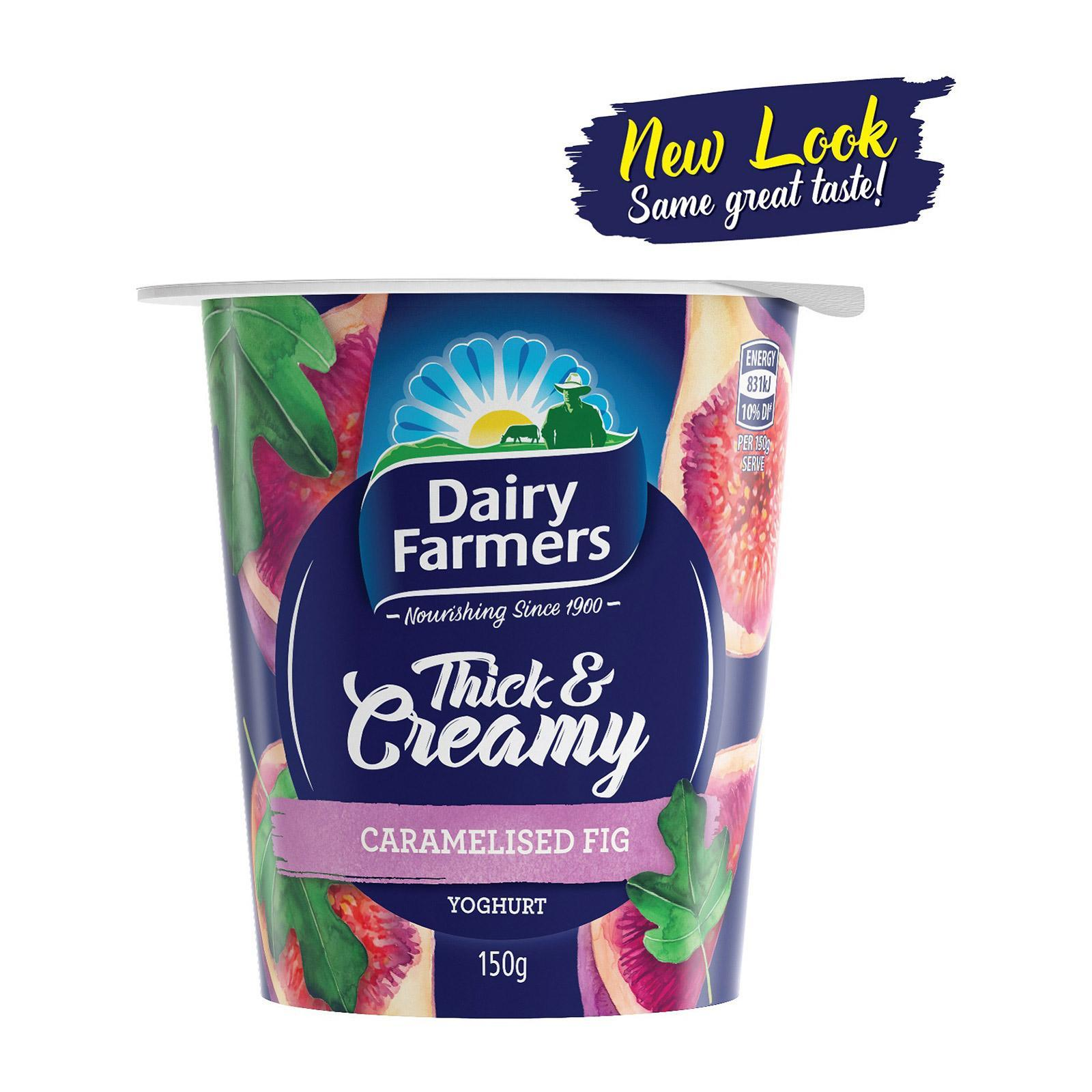 DAIRY FARMERS Yoghurt Thick & Creamy Caramelised Fig 150g