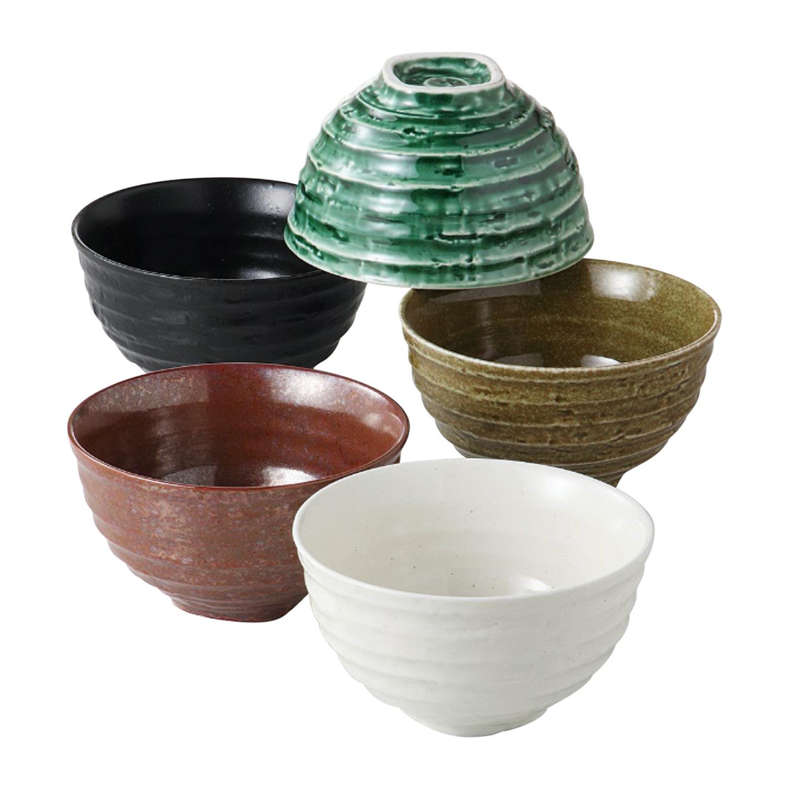 Tsuru 104 - 55 - 43 5 PCS Rice Bowl Set