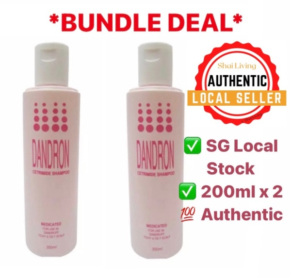 Buy *Bundle* Dandron Cetrimide 5% Shampoo 200ml x 2 Singapore