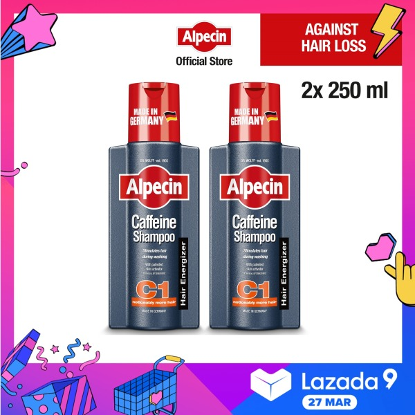 Buy 2-Pack Alpecin Caffeine Shampoo C1 (250ml) – Strengthens hair growth and reduces hair loss, for men Singapore