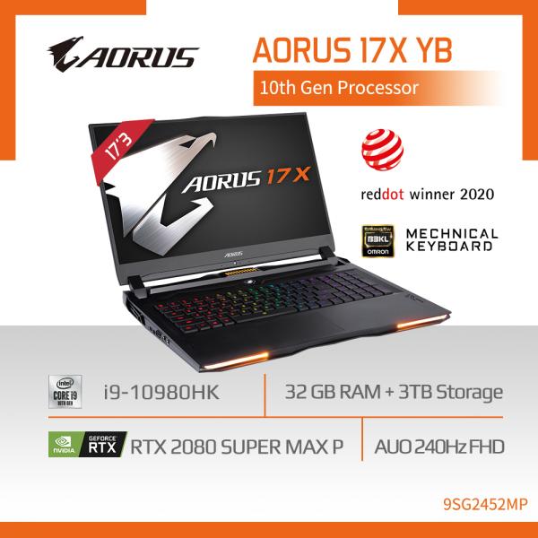 AORUS 17X YB i9 (i9-10980HK/32GB DDR4 2933 (16GBx2)/GeForce RTX 2080 Super GDDR6 8GB/1TB M.2 PCIE SSD + 2TB HDD/17.3inch Thin Bezel 240Hz FHD Display/WINDOWS 10 PROFESSIONAL) [Ships 2-5 days]