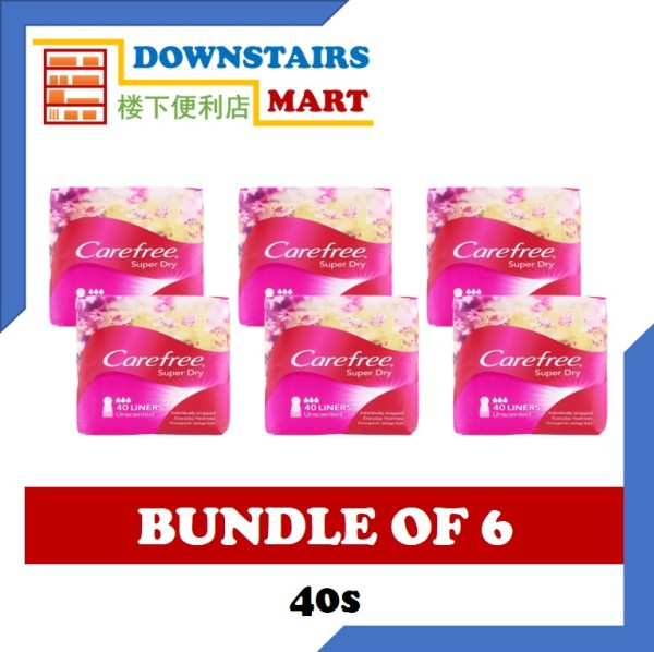 Buy [Bundle of 6] Carefree Super Dry Unscented 40s x 6 Singapore