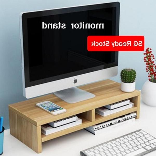 EmmAmy®  home wooden Laptop computer monitor riser desk stand storage drawer