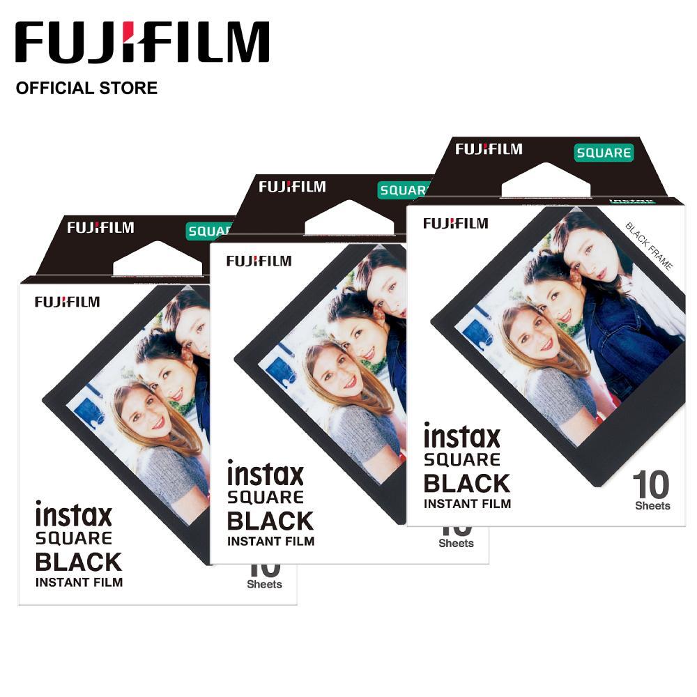 [bundle Of 3 Packs] Instax Square Black Frame Film By Fujifilm.