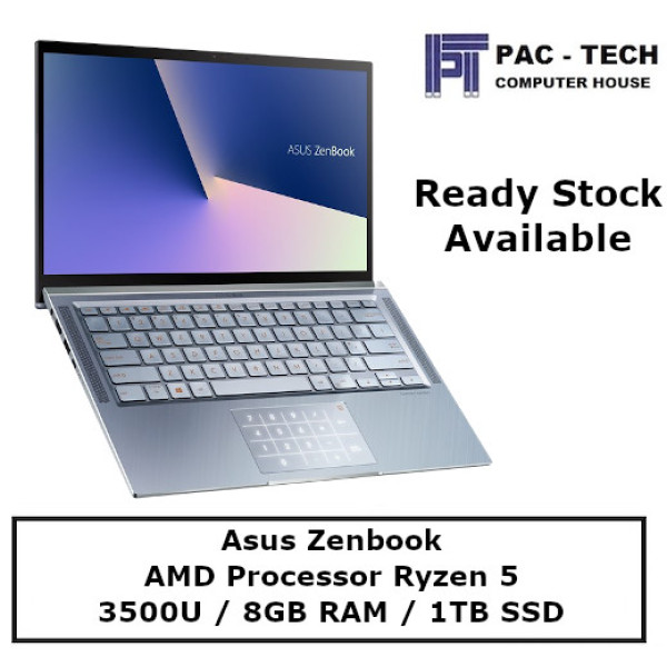 [Ready Stock] Asus Zenbook UM431DA-AM049T / AMD Ryzen 5 / Vega 8 Graphics / 8GB RAM / 1TB SSD /  14 Full HD Display