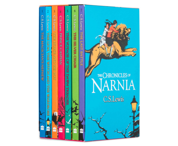 UK ver. The Chronicles of Narnia 7 Paperback books Slipcase by C.S Lewis