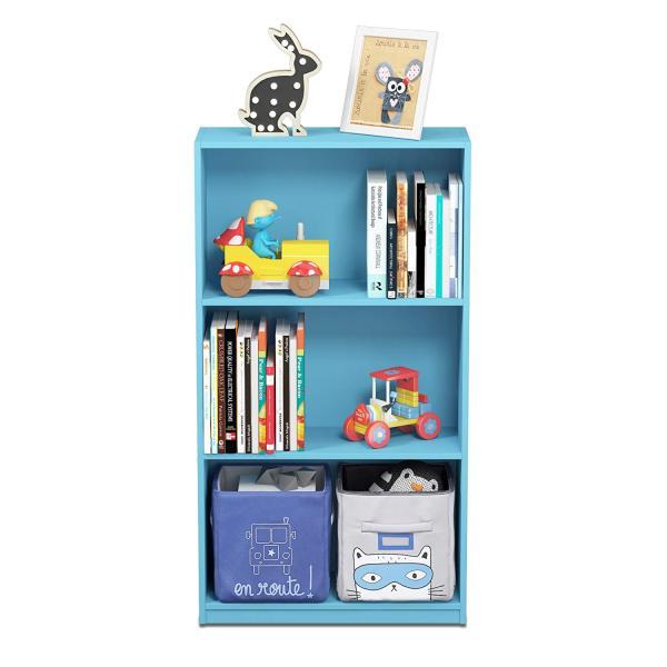 Furinno 99736 3-Tier Bookcase Storage Shelves