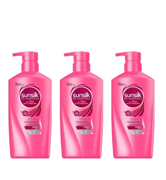 Buy (Bundle Of 3) Sunsilk Smooth & Manageable Shampoo  650ml - Beauty Language Singapore
