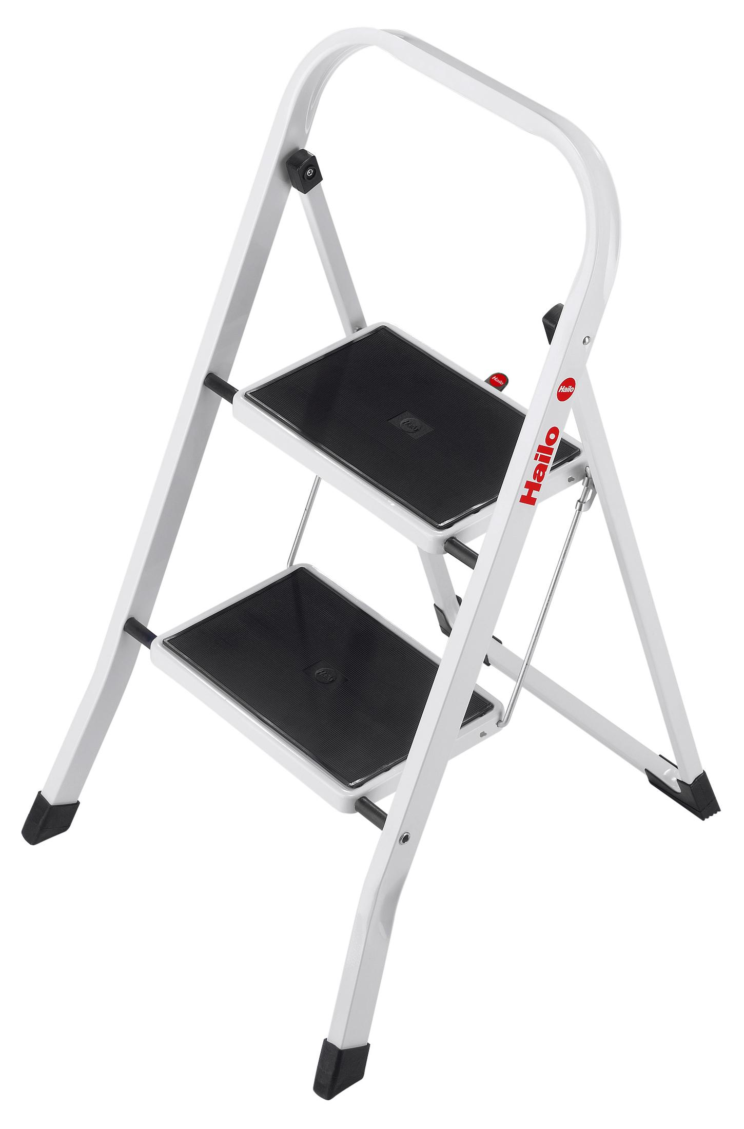 Hailo K20 Folding Ladder 2 to 3 Steps Sturdy/Stable/Steady Steel Step Stool