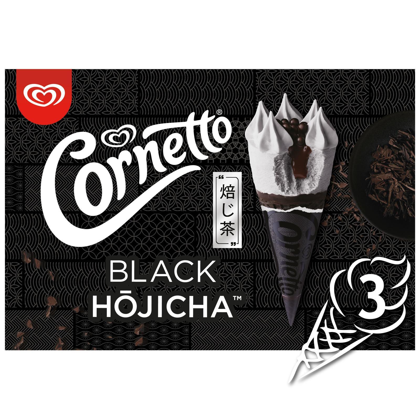 CORNETTO Black Hojicha Ice Cream Cone Multipack - Frozen