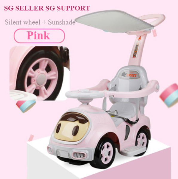 [SG SELLER] Miu Children 3 In 1 Stroller Twisting Car Yo Car Four Wheel With Music And Mute Wheel For 1-3-6 Years Old Boys And Girls Singapore