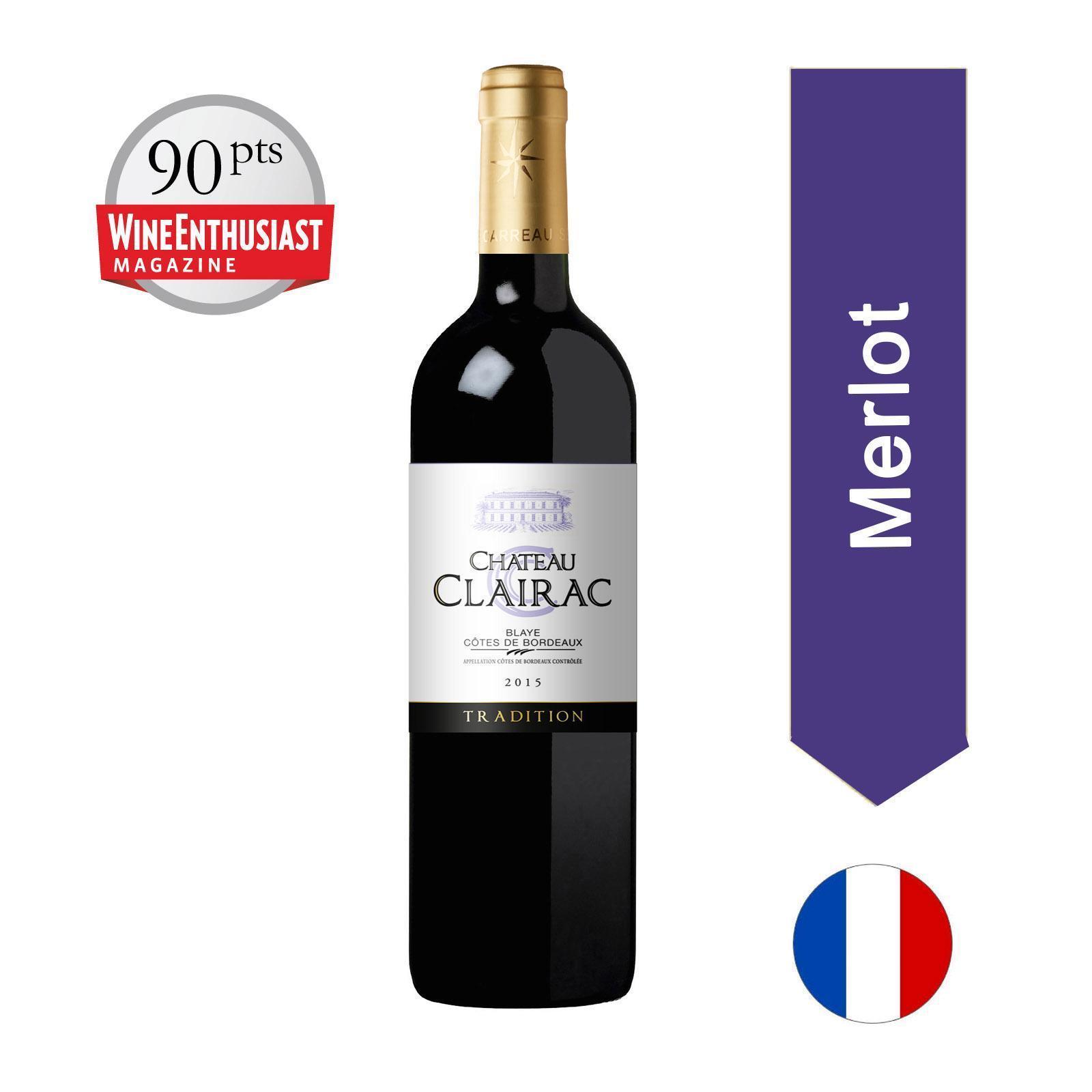 Chateau de Clairac - Blaye Cotes De Bordeaux - Merlot - 750Ml - By The Vintage Wine Club