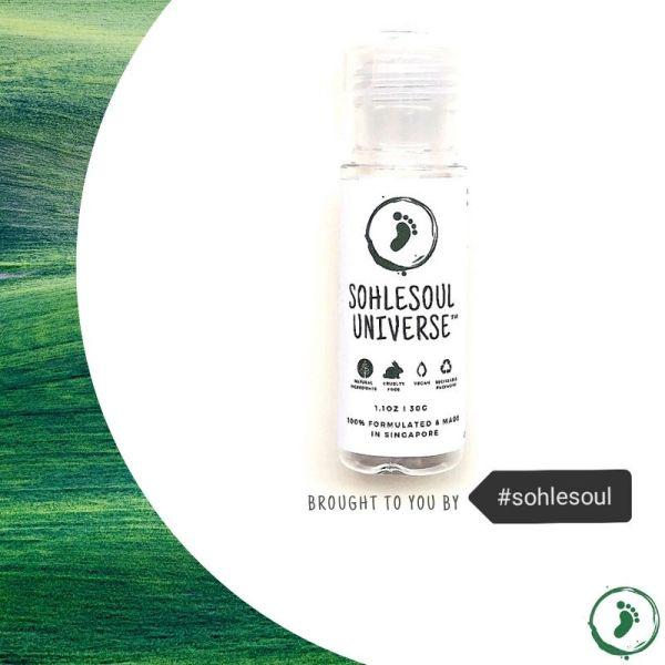 Buy Sohlesoul UNIVERSE Foot Odour Reducer Natural Vegan 30g Singapore