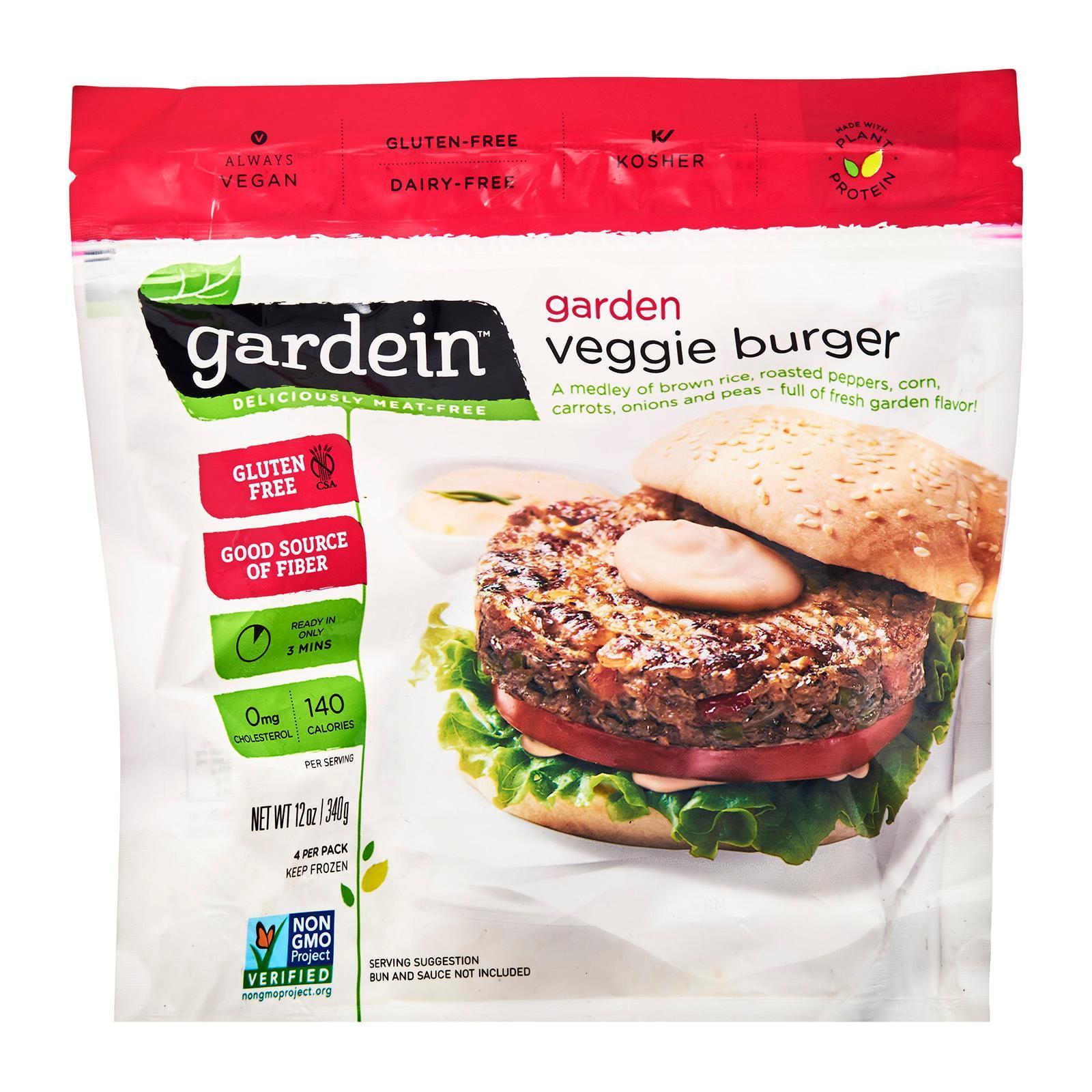 Gardein Gluten Free Vegetarian Garden Veggie Burger - Frozen