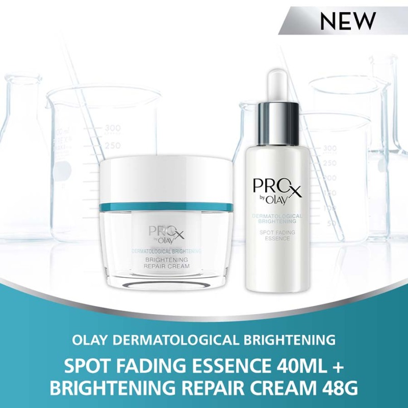 Buy [Bundle of 2] Olay Pro-X Spot Fading Essence 40ml + Olay Pro-X Brightening Repair Cream 48g Singapore