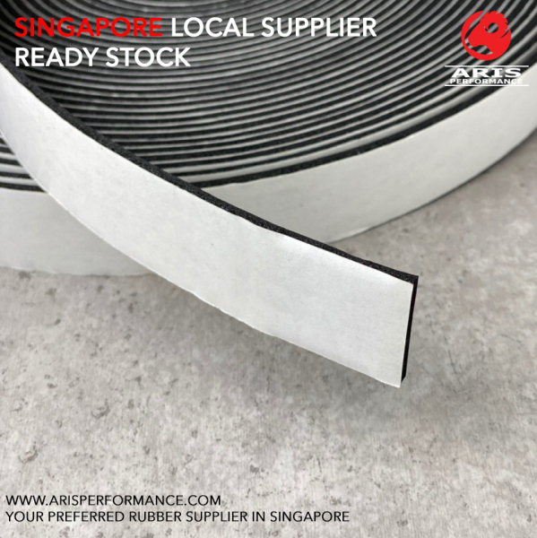 6MM Thick Waterproof Soundproof Sponge Rubber Door Seal Strip with Adhesive Tape, 15 Meter Roll