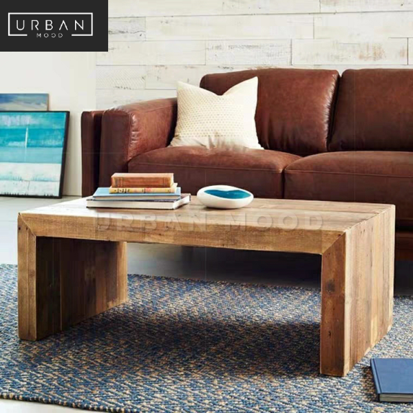[Pre-Order] CONNELL Rustic Solid Wood Coffee Table