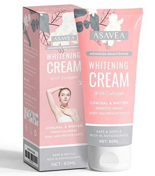 Buy Whitening Cream for Armpits, Intimate Parts, Between Legs - with Collagen - Effective Lightening Cream - Brightens, Nourishes, Moisturizes Underarm, Neck, Knees, Elbows by AsaVea Singapore
