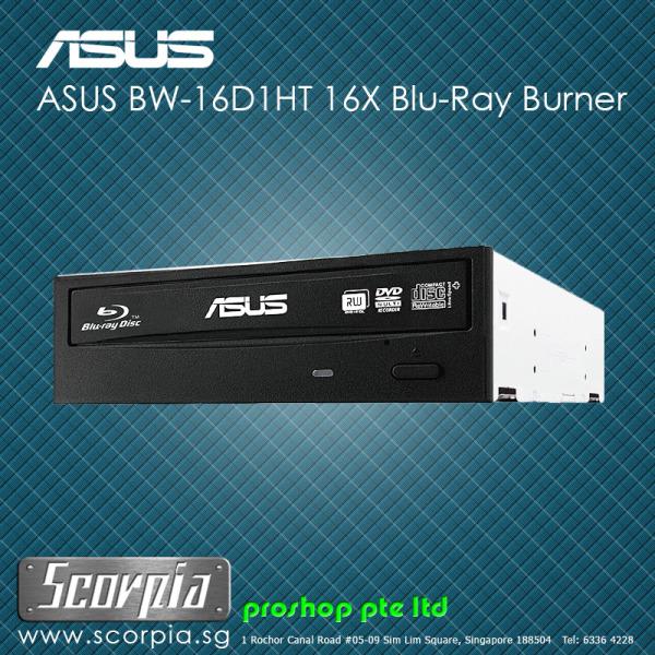 ASUS BW-16D1HT Ultra-Fast 16X Blu-Ray Burner Internal Writer Optical Drive