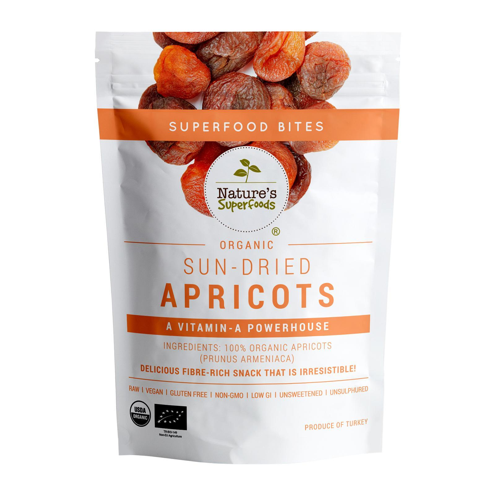 Nature's Superfoods Organic Sun-Dried Apricots