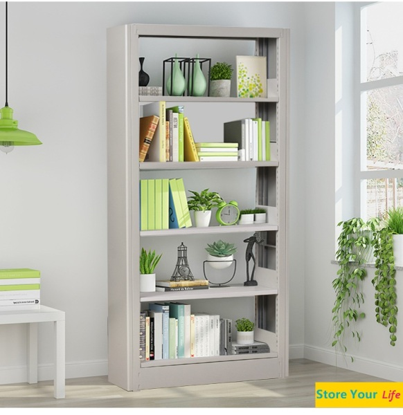 (Local seller)Stainless steel simple combination of steel bookshelf