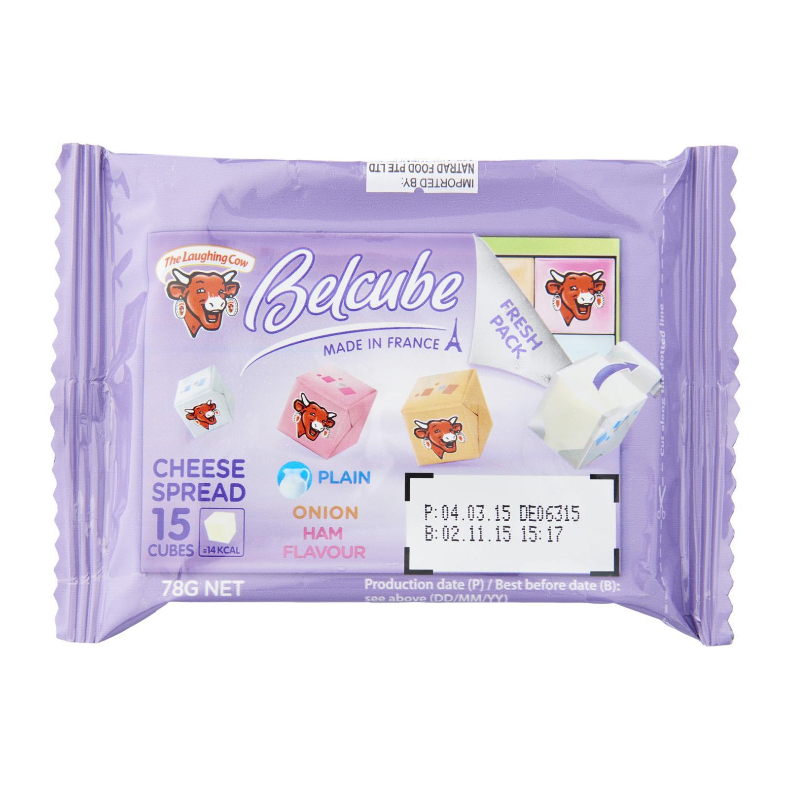 Belcube Purple 15 cubes (Plain Onion and Ham Flavour Cheese)