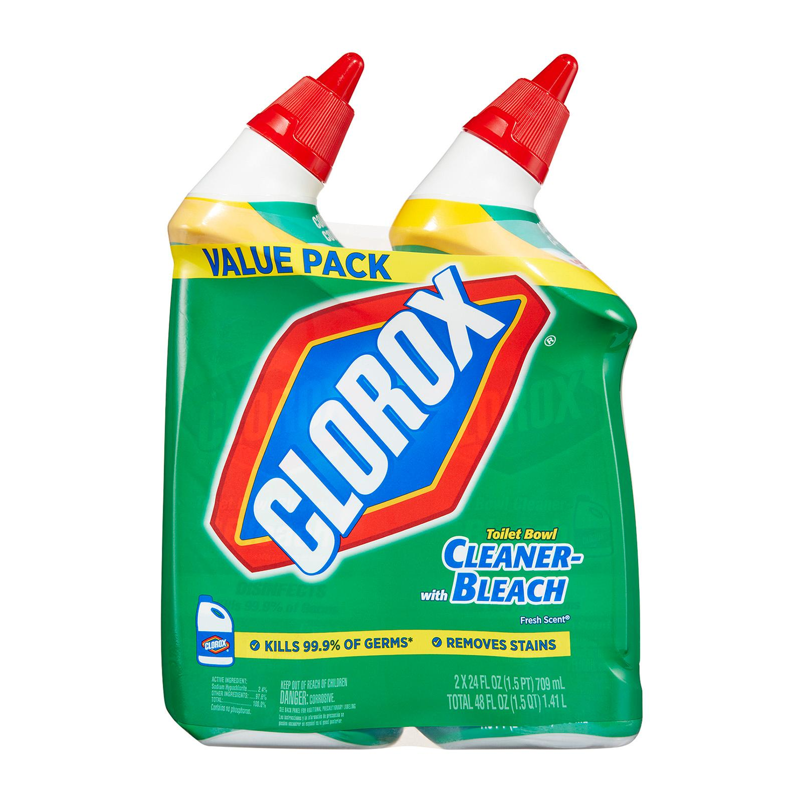 Clorox Toilet Bowl Cleaner with Bleach Twin Pack - Fresh Scent