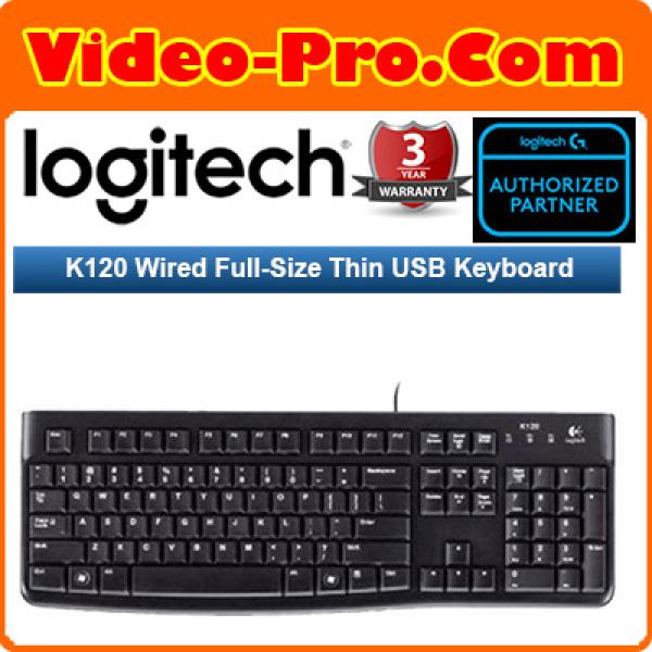 Logitech K120 Wired Full-size Thin USB Keyboard 920-002582 Singapore