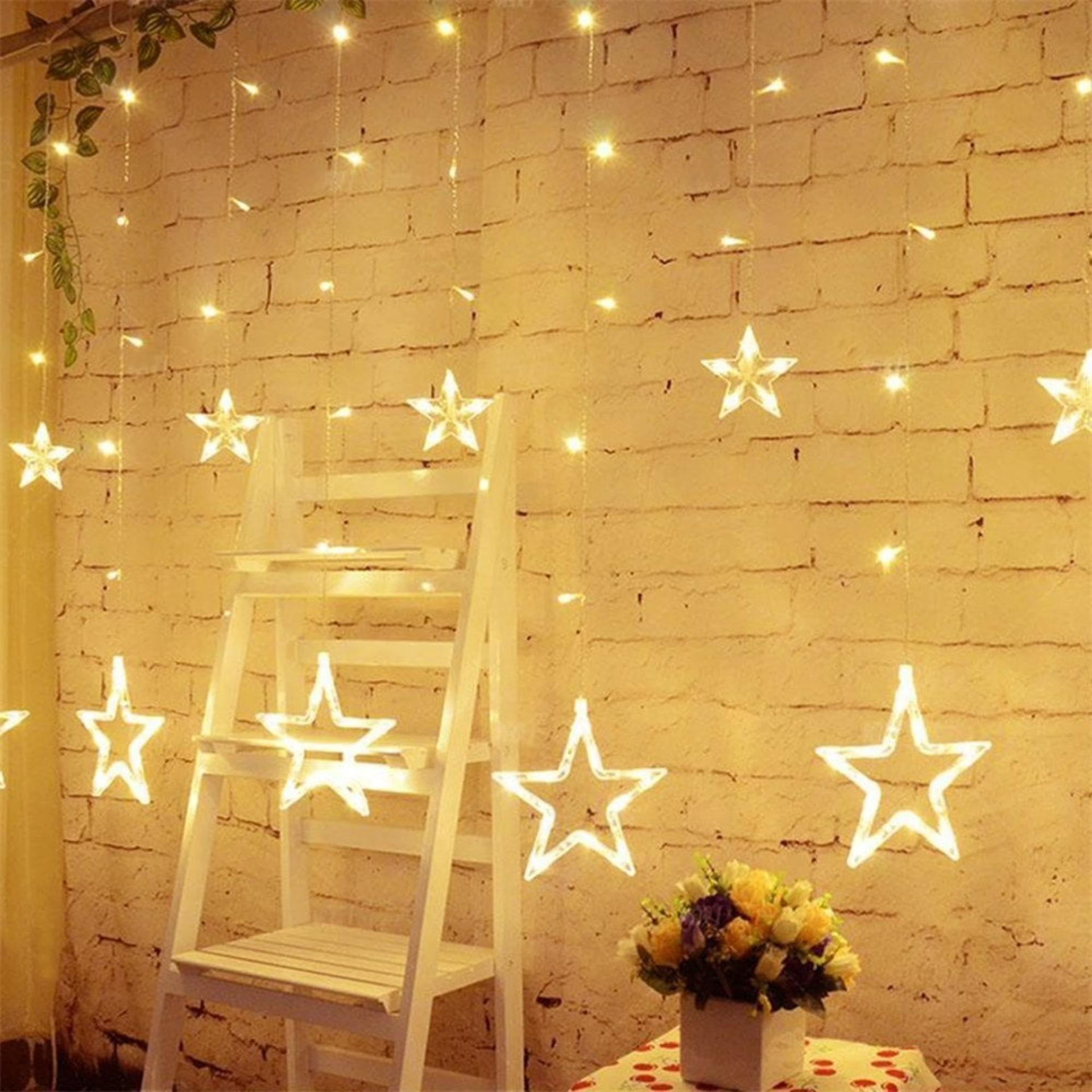 [StarzDeals]  - 3 Meters 12 Stars 138 Led Curtain Lights ( Power Point )
