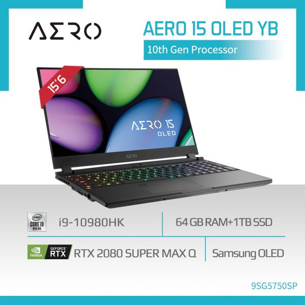 GIGABYTE AERO 15 OLED YB-9SG5750SP (i9-10980HK/64GB DDR4 (32GBx2)/GeForce RTX 2080 8GB GDDR6/1TB PCIe SSD/15.6 4K Samsung UHD OLED/WIN10 PRO) [Ships 2-5 days]
