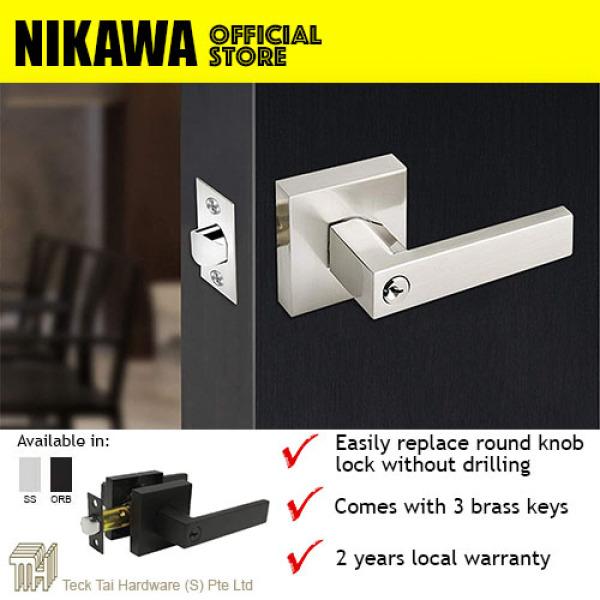 NIKAWA Heavy Duty Lever Lock 6271 *Replace Round Knob Room Door Lock, HDB lock, BTO lock