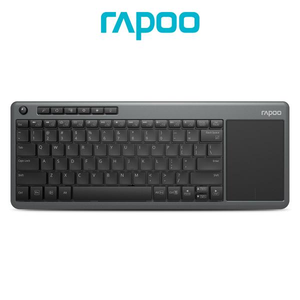 Rapoo K2600 Wireless Multimedia Keyboard With Touchpad Reliable 2.4GHz Wireless And Compact Design