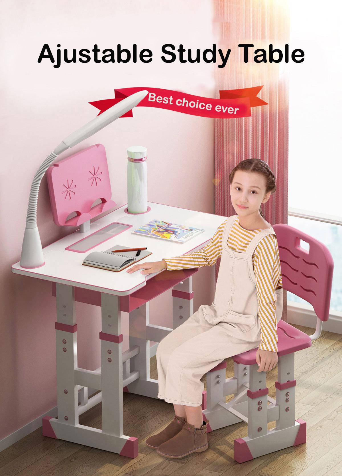 Kids adjustable study table / protect eyes / protect vertebral / available drawer / suitable for 3 - 18 years old