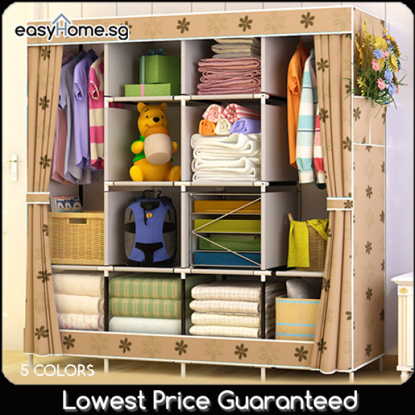 Wardrobe GY49 - Clothes Rack/ Closet / Hanger Shelves Storage