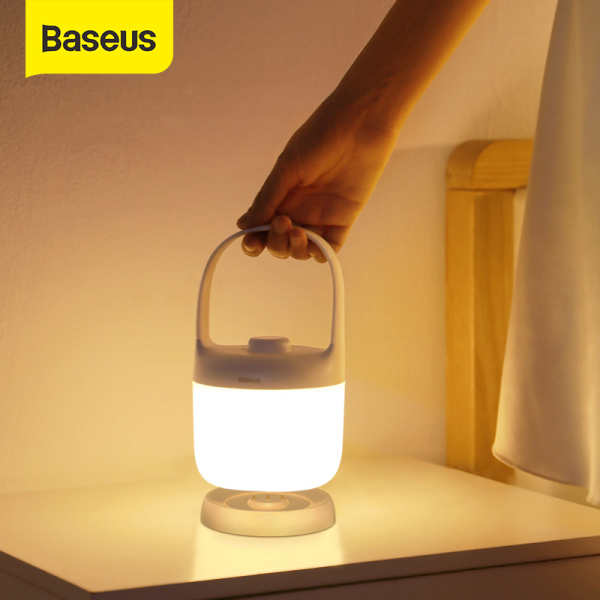Baseus Night Light Portable Table Lamp Reading Lamp 3000-5000K Rechargeable USB LED Light Handle Touch/Swivel Stepless Dimmable Baby Mother Garden Style