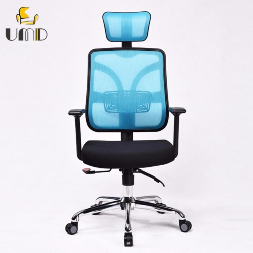UMD High Back Mesh Ergonomic Office Chair Computer Chair Gaming Chair with Well-designed Adjustable Lumbar Support/Headrest/Armrest (1 Year Warranty / Free Installation) Singapore